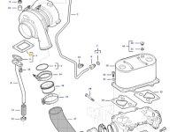Прокладка турбокомпрессора двигателя трактора Challenger — 836884072