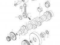 Демпфер шкива коленвала двигателя трактора Challenger — 836884616