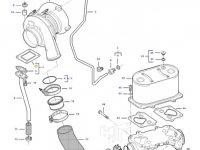Прокладка турбокомпрессора двигателя трактора Challenger — 836886359