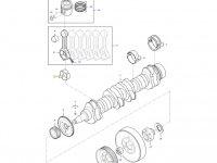 Вкладыши шатунные двигателя трактора Massey Ferguson — 837062996