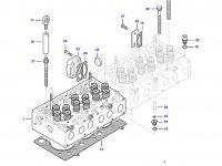 Седло выпускного клапана двигателя трактора Challenger — 837064907