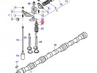 Сухарь клапана двигателя Sisu Diesel трактор Challenger — 837064910