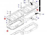 Прокладка клапанной крышки двигателя Sisu Diesel трактора Massey Ferguson — 837067881