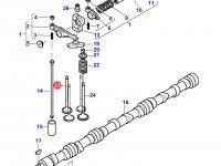Выпускной клапан двигателя Sisu Diesel трактора Massey Ferguson — 837069002