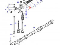 Коромысло(рокер) клапана двигателя Sisu Diesel трактор Challenger — 837069013