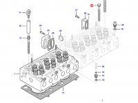 Болт головки блока цилиндров двигателя Sisu Diesel трактора Massey Ferguson — 837069025