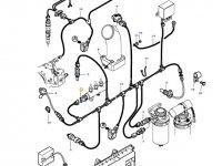 Датчик давления топлива в рампе двигателя трактора Challenger — 837069410