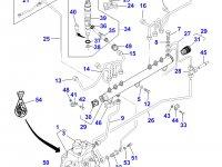 Топливная трубка пятого цилиндра двигателя Sisu Diesel трактора Massey Ferguson — 837070081