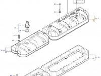 Прокладка клапанной крышки двигателя трактора Massey Ferguson — 837070128