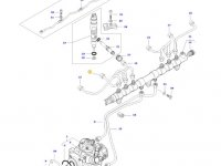 Топливная трубка второго цилиндра двигателя трактора Massey Ferguson — 837073575