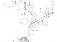 Топливная трубка третьего цилиндра двигателя трактора Massey Ferguson — 837073576