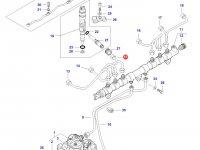 Топливная трубка двигателя Sisu Diesel трактор Challenger — 837073576