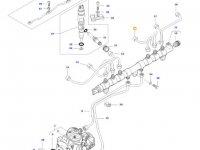 Топливная трубка четвертого цилиндра двигателя трактора Massey Ferguson — 837073577