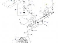 Топливная трубка пятого цилиндра двигателя трактора Massey Ferguson — 837073578