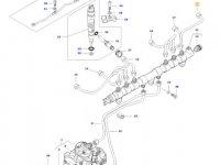 Топливная трубка шестого цилиндра двигателя трактора Massey Ferguson — 837073579