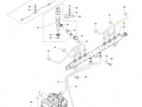 Топливная рампа двигателя трактора Massey Ferguson — 837073584