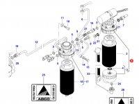 Топливоподкачивающий насос двигателя Sisu Diesel трактора Massey Ferguson — 837073629