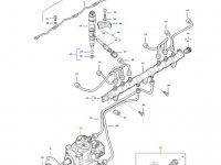 Топливный насос высокого давления (ТНВД) двигателя трактора Massey Ferguson — 837073731