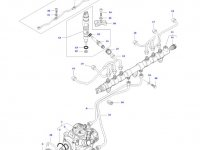 Трубка отвода топлива (топливоотвод) двигателя трактора Massey Ferguson — 837073763