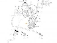 Фланец турбокомпрессора двигателя трактора Massey Ferguson — 837074003