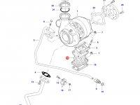 Фланец турбокомпрессора двигателя трактора Challenger — 837074003