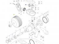 Шкив водяного насоса двигателя трактора Massey Ferguson — 837074027