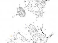 Натяжной ролик ремня двигателя трактора Massey Ferguson — 837074402
