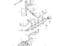 Топливная рампа двигателя трактора Massey Ferguson — 837074580