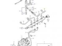 Топливная трубка четвертого цилиндра двигателя трактора Massey Ferguson — 837074660