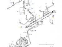 Топливная рампа двигателя трактора Massey Ferguson — 837074665