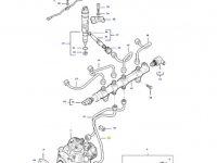 Топливная трубка двигателя трактора Massey Ferguson — 837074666