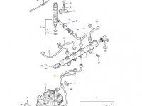 Топливная трубка двигателя трактора Massey Ferguson — 837074667