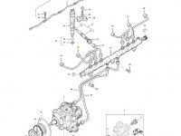 Топливная трубка второго цилиндра двигателя трактора Massey Ferguson — 837074669