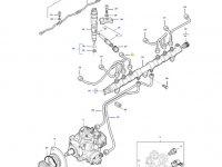 Топливная трубка третьего цилиндра двигателя трактора Massey Ferguson — 837074670