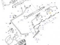 Топливная трубка двигателя трактора Challenger — 837074670