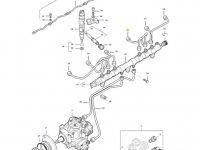 Топливная трубка четвертого цилиндра двигателя трактора Massey Ferguson — 837074671