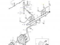 Топливная трубка пятого цилиндра двигателя трактора Massey Ferguson — 837074672