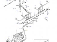 Топливная трубка двигателя трактора Massey Ferguson — 837074675