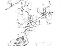 Топливная трубка двигателя трактора Massey Ferguson — 837074676