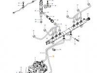 Топливная трубка двигателя трактора Challenger — 837074677