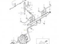 Топливная трубка двигателя трактора Massey Ferguson — 837074678