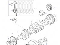 Комплект поршневых колец двигателя трактора Massey Ferguson — 837079460