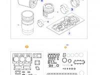 Комплект прокладок двигателя трактора Challenger — 837079463