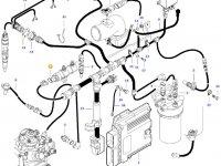 Датчик давления топлива в рампе двигателя трактора Challenger — 837079599