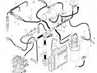 Датчик давления топлива в рампе двигателя трактора Massey Ferguson — 837079599