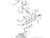 Датчик давления топлива в рампе двигателя трактора Massey Ferguson — 837079833