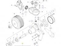 Ремкомплект водяного насоса двигателя трактора Massey Ferguson — 837079838