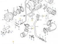 Турбокомпрессор двигателя трактора Challenger — 837079844
