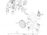Охлаждающий(водяной) насос двигателя трактора Challenger — 837079850