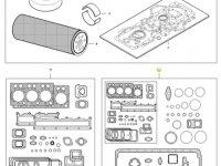 Комплект прокладок двигателя трактора Challenger — 837079870